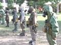 Lính phòng hóa huấn luyện trong nắng nóng 40 độ C