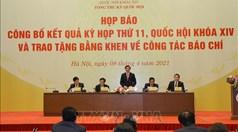 Kỳ họp thứ 11, Quốc hội khóa XIV: Hoàn thành chương trình nghị sự với nhiều nội dung quan trọng