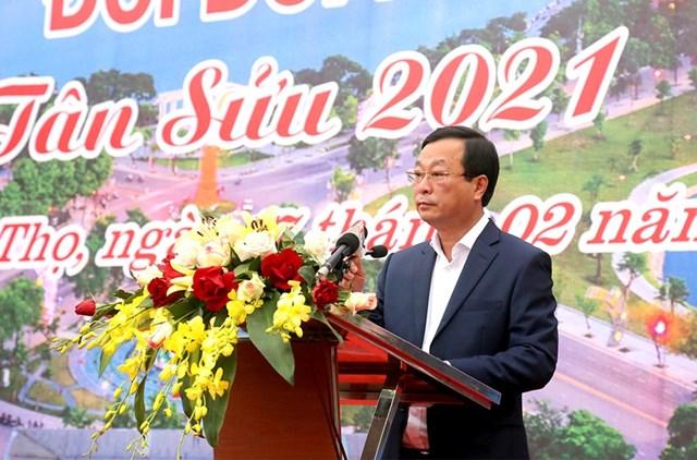 Ông Bùi Văn Quang - Phó Bí thư Tỉnh ủy, Chủ tịch UBND tỉnh phát biểu tại buổi Lễ