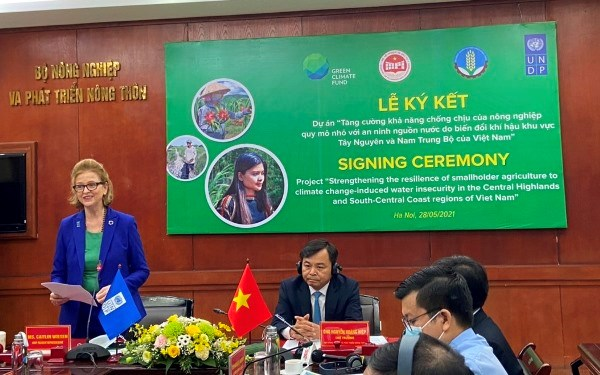 Bà Caitlin Wiesen - Trưởng đại diện thường trú UNDP tại Việt Nam.