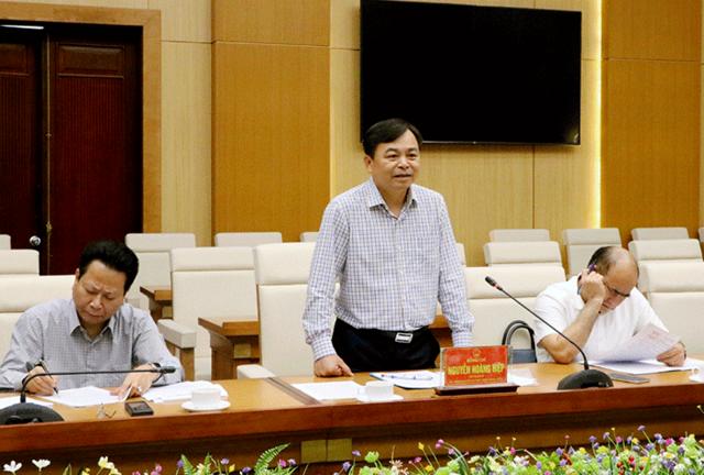 Thứ trưởng Bộ NN&PTNT Nguyễn Hoàng Hiệp phát biểu tại buổi làm việc