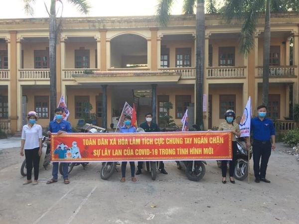 Toàn dân xã Hòa Lâm chung tay phòng chống dịch Covid - 19