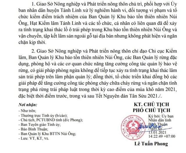 Bình Thuận: Chỉ đạo xử lý khai thác lồ ô trái phép trong Khu bảo tồn thiên nhiên Núi Ông - Ảnh 1